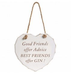 Add a shabby chic touch to your home with this hanging heart plaque