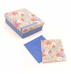 12 blossom notecards in a box