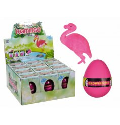 Flamingo In An Egg,   Plonk in some water and watch your fun little flamingo hatch