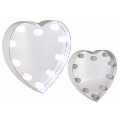 Light Up White Heart Mirror    This glam inspired wall mirror will bring a bright glow to any bedroom wall space