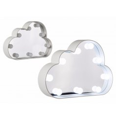 Add a chic dreamy touch to your home space with this cloud shaped wall mirror