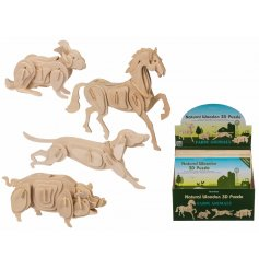 With its educational additions for knowledge of animals, this fun and creative puzzle will focus your little one