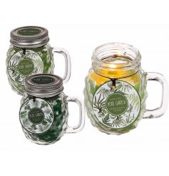 An assortment of 2 wilderness candle jars