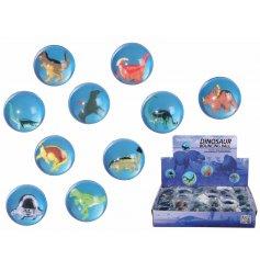 Dinosaur Bouncy Balls   Fun bouncing balls with little dinosaurs inside them