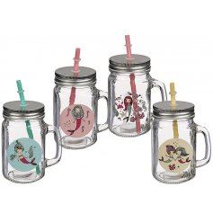 Perfect drinking mason jars for themed parties and events!