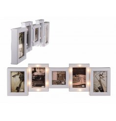 Bring a sweet homely touch to any space of your home with this beautiful warm glowing LED picture frame