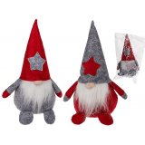 Felt Christmas Gnomes  An adorable duo of grey and red themed sitting christmas gnomes