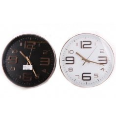 Add a chic on trend touch to your home styles with these assorted round wall clocks