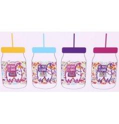 No Probllama Assorted Drinking Jars