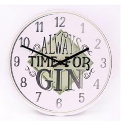 3 assorted quirky gin wall clock
