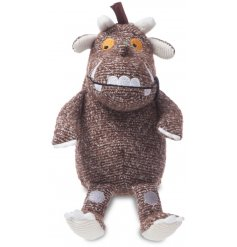 A soft to the touch baby rattle toy, in a fun and popular Gruffalo look