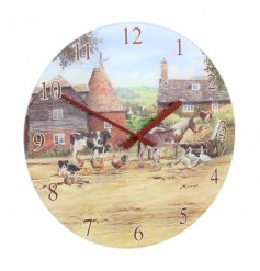 A Country Life Glass Clock