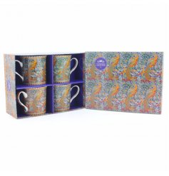 A set of 4 william morris print mugs