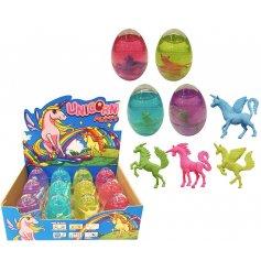 4 assorted Unicorn Putty Eggs