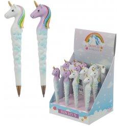An assortment of 2 enchanted rainbow unicorn pens