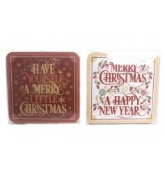 Add some festive cheer to your dinner table this christmas time with this assortment of cork coasters