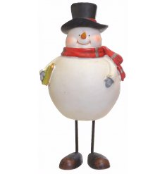 This plump looking snowman decoration is a must have standing decoration for any home this festive season