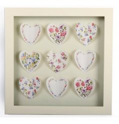 Add a sweet floral tone to your home space with this wooden box frame
