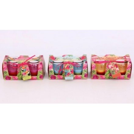 2 Tone Tropical Candle Sets