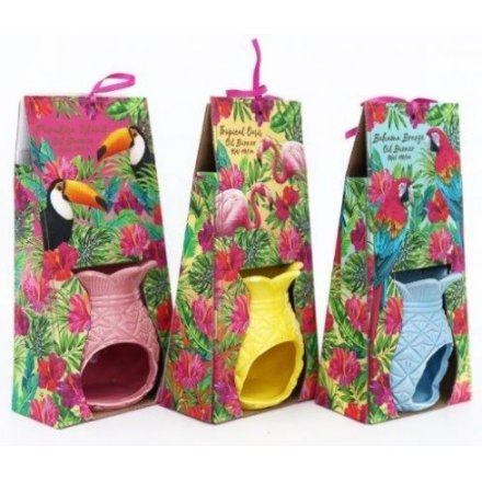 Bring a touch of the tropics to your home space with this flamingo inspired assortment of pineapple oil burners