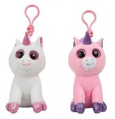An adorable assortment of soft toy unicorns