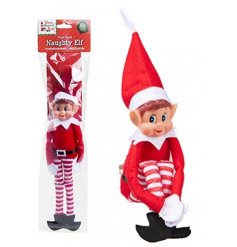 A mischievous and cheeky Naughty Elf figure, well known for his bad behaviour and large pointed ears,