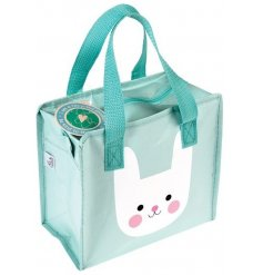 A sweet and cheery bunny themed charlotte bag, a perfect accessory to any lunch time!
