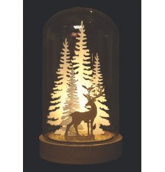With its reindeer woodland scenery inside and led lights, this little dome is a great accessory to any cozy night in by