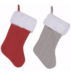 Add a traditional festive tone to your home space with this assortment of grey and red stocking decorations