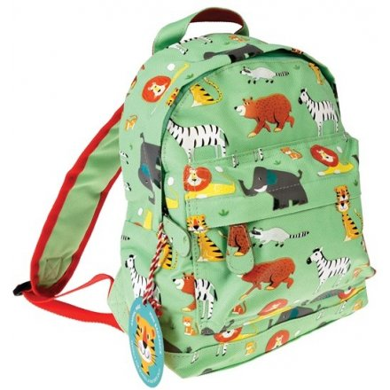 Add a fun wild touch to any day out with your little one with this multi compartment zip up mini backpack