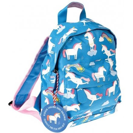 With its fun blue and pink colours and plenty of storage space, this unicorn printed backpack will be perfect