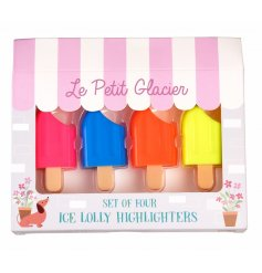 Add some colour to your stationary sets with this fun assortment of ice lolly themed highlighter pens