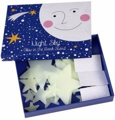 Add a fun magical glow to your little ones bedroom walls or ceiling with these plastic glow in the dark stars