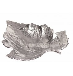 Add a touch of elegance to any sideboard or coffee table with this luxury inspired leaf tray decoration