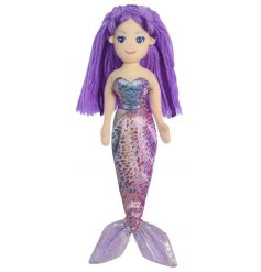 Let your little ones adventures run wild with this beautiful mermaid soft toy,