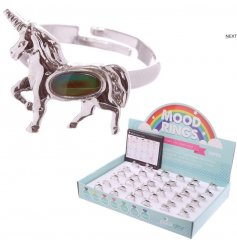 These adjustable unicorn themed rings will predict your mood aswell as look stylish!