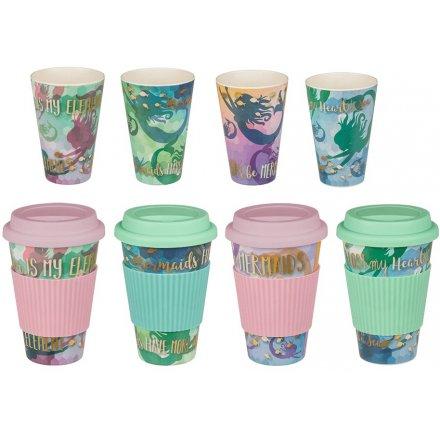 Whimsical Mermaid Travel Mugs