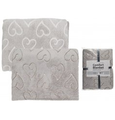 Get all snuggy this winter with this smooth to the touch grey comfort blanket,