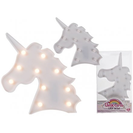 White Unicorn Head LED Lights