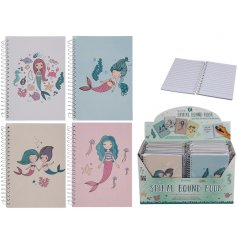 Have your little ones write down their days in these fun mermaid themed notebooks
