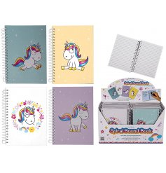 Magical Unicorn Notebook - A6  A fun and magical assortment of lined hardback notebooks