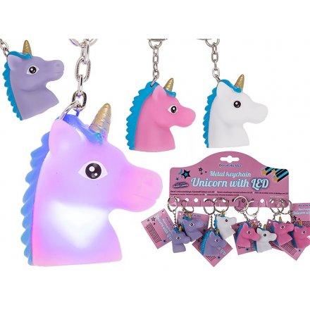 Unicorn LED Light Up Keychain
