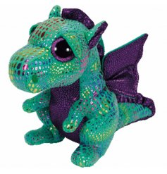 A medium sized Cinder Dragon TY Soft Toy