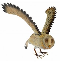Add a delicate owl touch to your garden space with this beautifully finished garden ornament