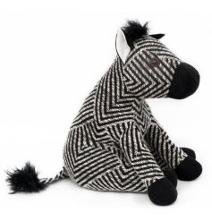 Add an adoring touch to any space of your home with this little plump Zebra Doorstop
