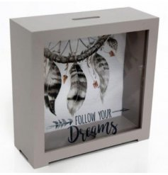 A Grey Dream Catcher Money Box