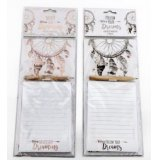 An assortment of 2 magnetic memo pads with dreamcatcher design