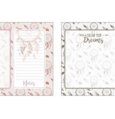 """Keep track of your wish lists with these magnetic memo pads featuring a """"follow your dreams"""" quote"""