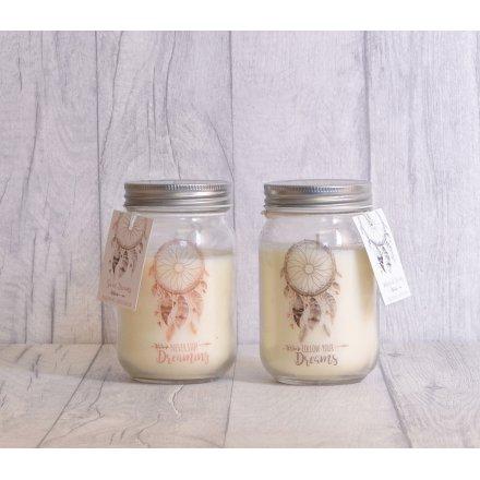 DR40 Pure And Warm Dreamcatcher Mason Jar Candles 40 Assorted Delectable Dream Catcher Jar