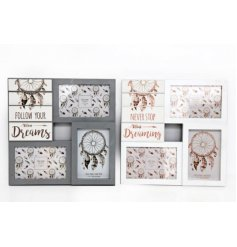 Add a sweet dream theme to your home spaces with these beautifully finished wooden multi-frames